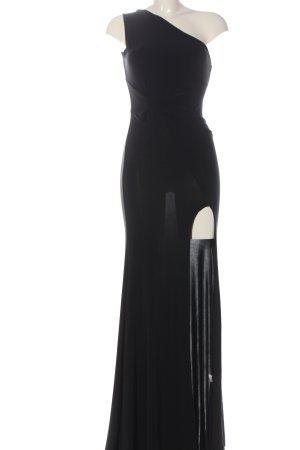 Club L London Robe asymétrique noir élégant
