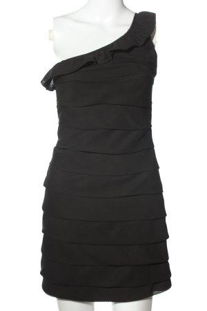 Tom Wolfe Vestido de un hombro negro elegante