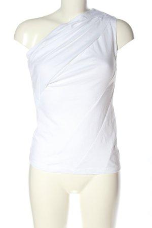 RtA Haut avec une épaule dénudée blanc style décontracté