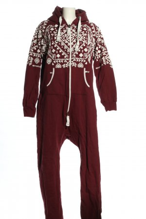 Onesie rojo-blanco look casual