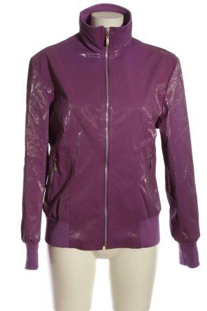 Veste d'extérieur violet style décontracté
