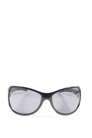 SP Oval Sunglasses black-light grey casual look