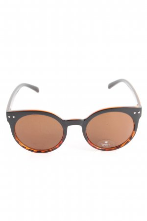 ovale Sonnenbrille braun Casual-Look
