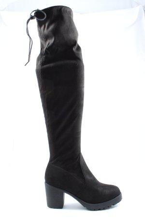 Kniehoge laarzen zwart casual uitstraling