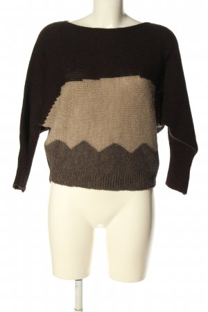 Piazza Italia Oversized Pullover braun-creme grafisches Muster Casual-Look
