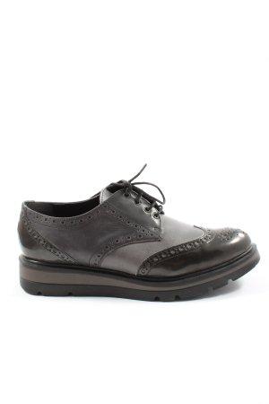 gen Chaussure Oxford brun-gris clair style décontracté