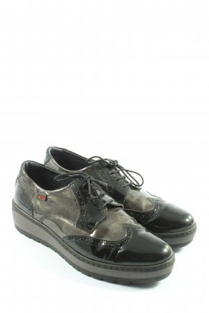 notton Oxfords black-light grey casual look