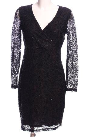 Pailettenkleid schwarz Elegant