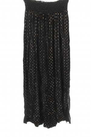seen worn kept Palazzo Pants black-gold-colored allover print casual look