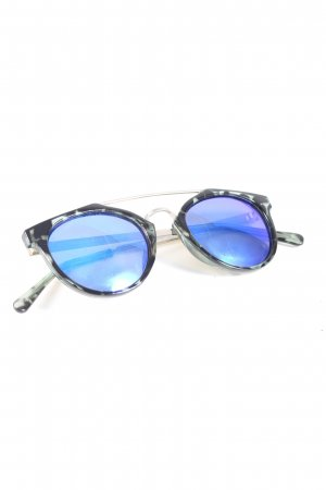 Panto Glasses black-light grey abstract pattern casual look