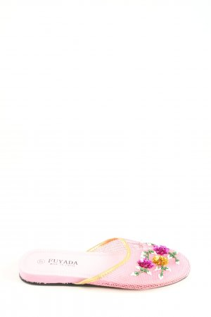 Sloffen roze-zwart casual uitstraling