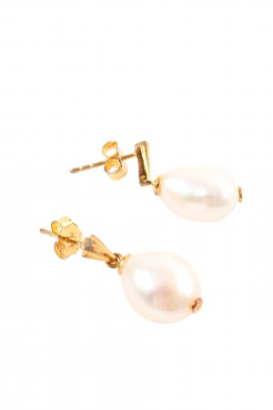 "Perlenohrring ""Coco Drop Earrings Baroque"" goldfarben"