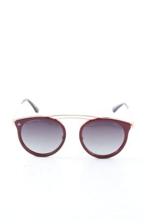 Privé Revaux Okulary pilotki czerwony-złoto W stylu casual