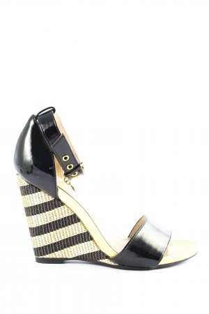 Wedge Sandals black-gold-colored casual look