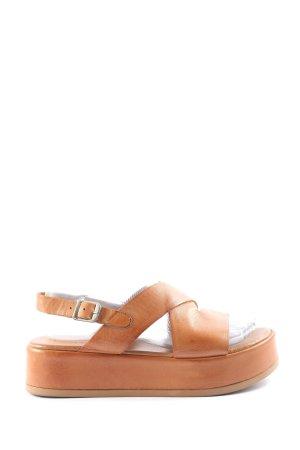 Sandales à plateforme brun style décontracté