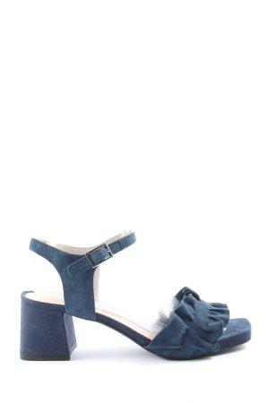 Sandales à talons hauts et plateforme bleu style décontracté
