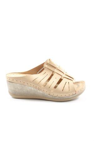 Platform High-Heeled Sandal cream casual look
