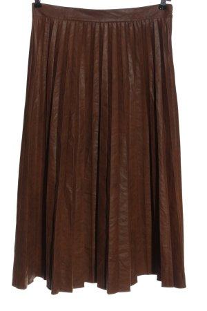 Jupe plissée brun style décontracté