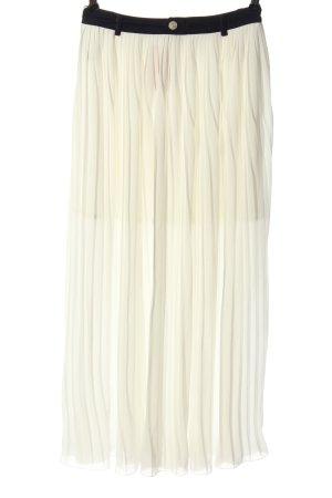 Yes! Miss Plisowana spódnica biały W stylu casual
