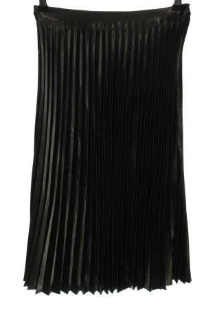 Jupe plissée noir style décontracté