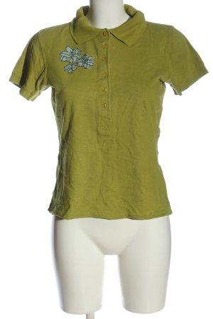 Lato B Polo-Shirt grün Blumenmuster Casual-Look