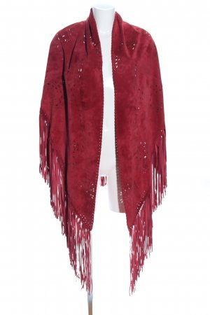 Poncho rosso stile casual