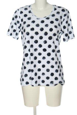 Print Shirt white-black allover print casual look
