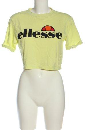 Ellesse Camicia fantasia giallo pallido caratteri stampati stile casual