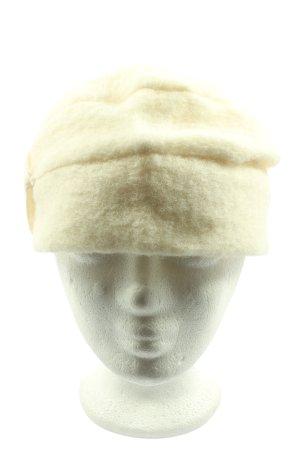 chapeaux pierre Bonnet à pompon crème style décontracté