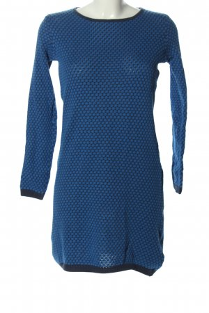 anukoo Pulloverkleid blau-schwarz Allover-Druck Casual-Look