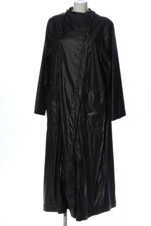 Manteau de pluie noir style décontracté