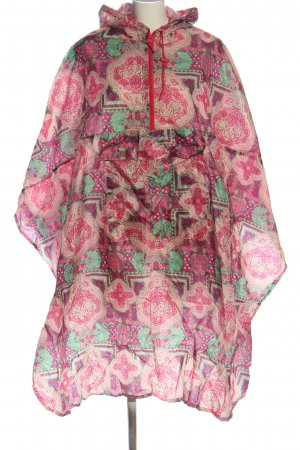 Rain Poncho abstract pattern casual look