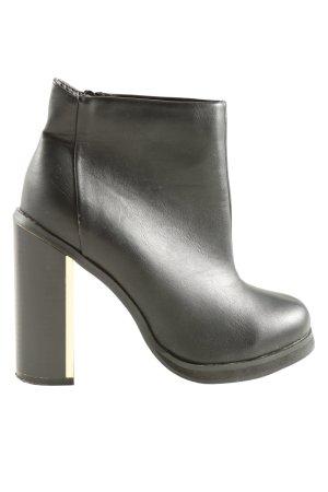 Spot Reißverschluss-Stiefeletten schwarz Casual-Look