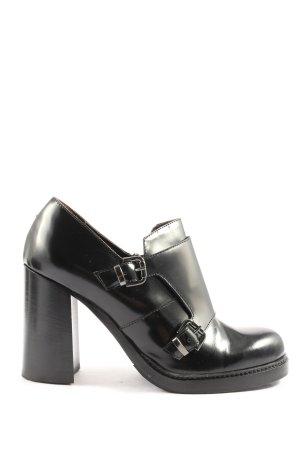 grandinetti Reißverschluss-Stiefeletten schwarz Casual-Look