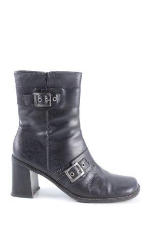 Jamet D. Reißverschluss-Stiefeletten schwarz Casual-Look