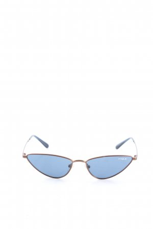 Retro Brille blau Casual-Look