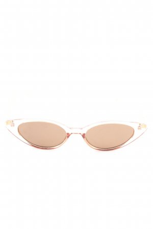 Retro Brille nude-weiß Casual-Look