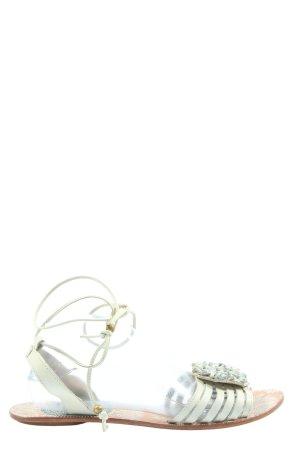 piel fashion Sandales à lanière blanc style décontracté