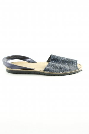 Sandalen met bandjes blauw casual uitstraling