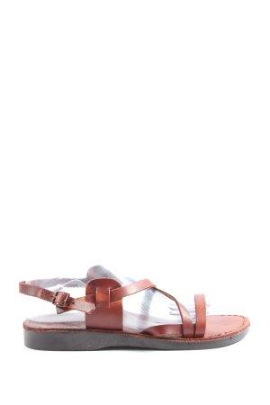 Sandały z rzemykami brązowy W stylu casual