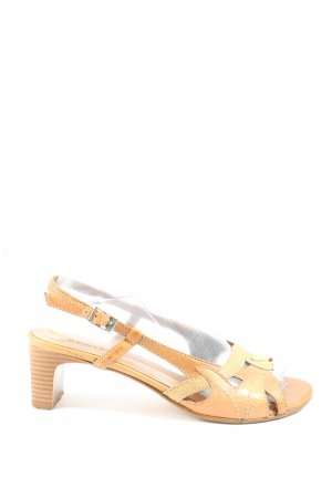 Creative Clothing Sandalias de tacón de tiras nude-amarillo pálido look casual