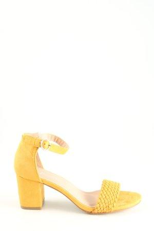 Riemchen-Sandaletten blassgelb Casual-Look