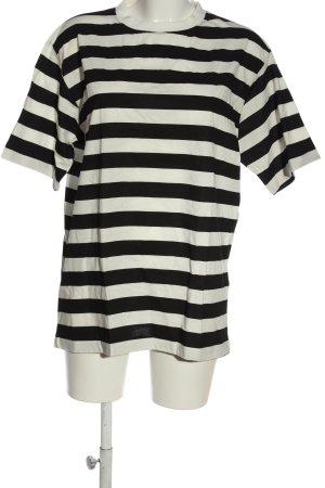Gestreept shirt wit-zwart gestreept patroon elegant