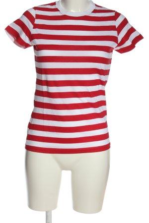 Gestreept shirt rood-wit gestreept patroon casual uitstraling