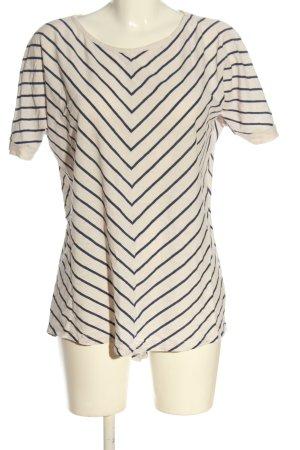 Koszulka w paski w kolorze białej wełny-niebieski Wzór w paski W stylu casual