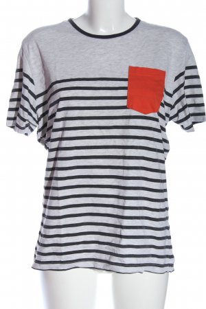 Stripe Shirt light grey flecked casual look