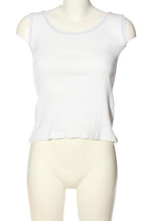 Prążkowana koszulka biały W stylu casual