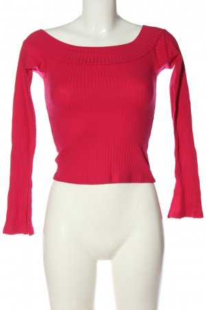 Ribbed Shirt red casual look