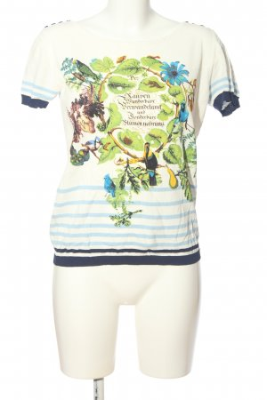 Ribbed Shirt flower pattern casual look