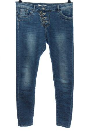 JEWELLY Jeans cigarette bleu style décontracté